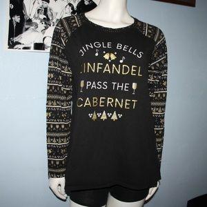 Christmas Wine Long Sleeve Shirt XL
